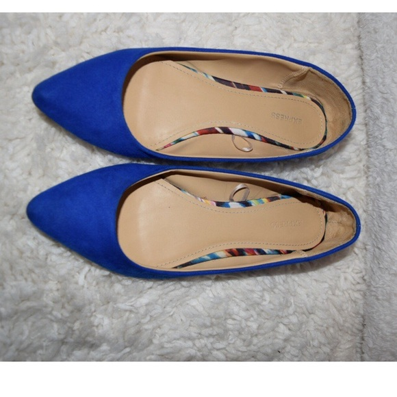 97be3fa5c91 Express Shoes - Express Royal blue pointed toe flats